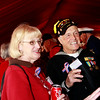 Veteran supporer Dolores Morse and WWII veteran Ike Hargraves