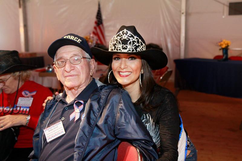 WWII veteran Joe Gantt and Miss Houston Rodeo