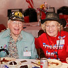 """WWII veteran Joseph Smith and military supporter Lilija Grumulaitis. Born in Lithuania, Lilija's town was liberated by US forces during WWII. After immigrating to the US Lilija has spent most of her life supporting the US military as a way to say """"thank you."""""""
