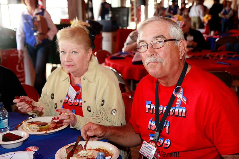 Vietnam veteran and military supporter Robert Parker and wife Gloria Parker.