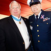 Congressional Medal of Honor recipient, Mike Thornton and WWII veteran John Heyde.