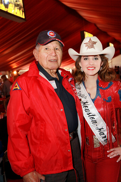 WWII Choctaw veteran John Brown and Mrs. Rodeo Houston