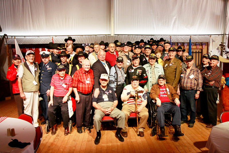 1st Cav Mounted Div Troopers with the WWII veterans.