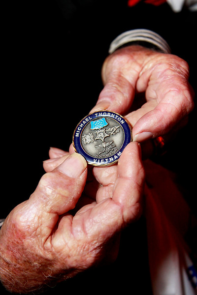 Congressional Medal of Honor recipient, Mike Thornton's challenge coin.