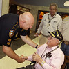 WWII Veterans participate in the Houston Livestock Show and Rodeo Armed Forces Appreciation Day. Roy Hughes, Randy Montgomery, Sgt. Cole