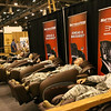 WWII Veterans participate in the Houston Livestock Show and Rodeo Armed Forces Appreciation Day. What every soldier needs.