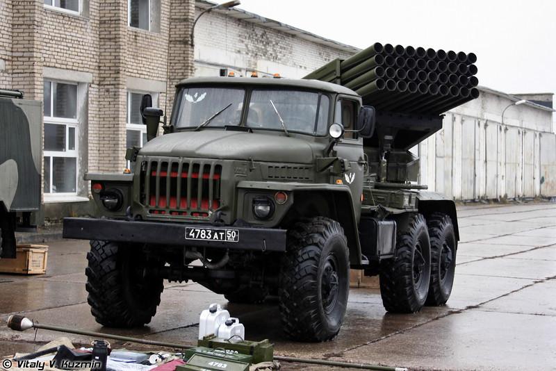 Батарея БМ-21 РСЗО Град из состава реактивного артиллерийского дивизиона бригады (Exercises with BM-21 9K51 Grad MLRS battery)
