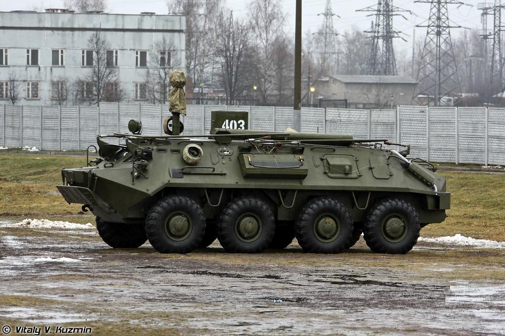 Командно-штабная машина Р-145БМ на шасси БТР-60 (R-145BM command vehicle on BTR-60 base)