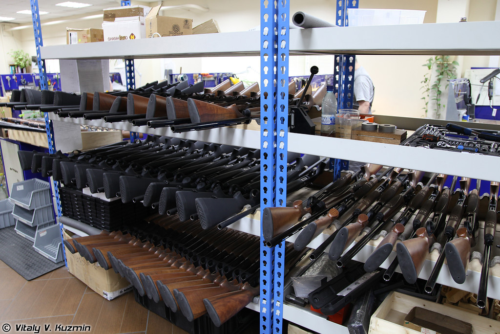 Готовые ружья Marocchi в сборочном цехе (Assembled Marocchi rifles at ORSIS factory)
