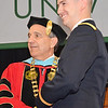 Seth Lavenski, of Ashburnham, receives his undergraduate degree during the commencement ceremony at Fitchburg State University on Saturday morning. Earlier in the morning, along with Dylan Finn, of Dedham, and Dylan Hicks, of Pittsfield, attended the Commissioning Ceremony at WPI and became 2nd Lieutenants in the United States Army. SENTINEL & ENTERPRISE / Ashley Green