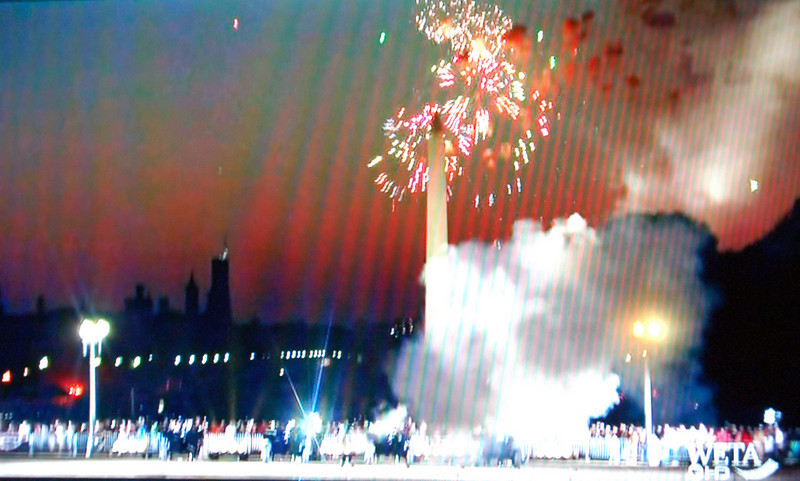 4th of July Fireworks from TV