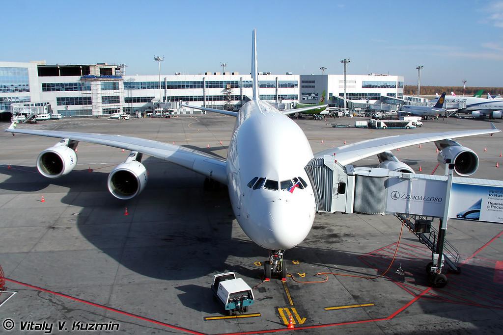 Первый визит А380 в Россию (First visit of Airbus A380 to Russia)