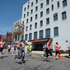Runners take off down Boulder Dr past the old Worcester North Bank building at the start of the Patriot's Day 5k sponsored by the Fitchburg Veterans' Council. SENTINEL&ENTERPRISE/ Jim Marabello