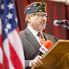 Mayor Stephen DiNatale speaks during Fitchburg's Memorial Day service at the Senior Center on Monday morning. SENTINEL & ENTERPRISE / Ashley Green
