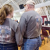 George and Nora Nicholaou during Fitchburg's Memorial Day service at the Senior Center on Monday morning. SENTINEL & ENTERPRISE / Ashley Green