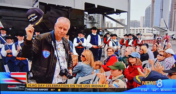 News 8 Screen Shot of honored Veterans