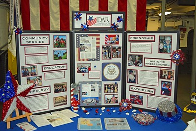 DAR - Daughters of the American Revolution sponsor the Flag Day Event on USS Midway
