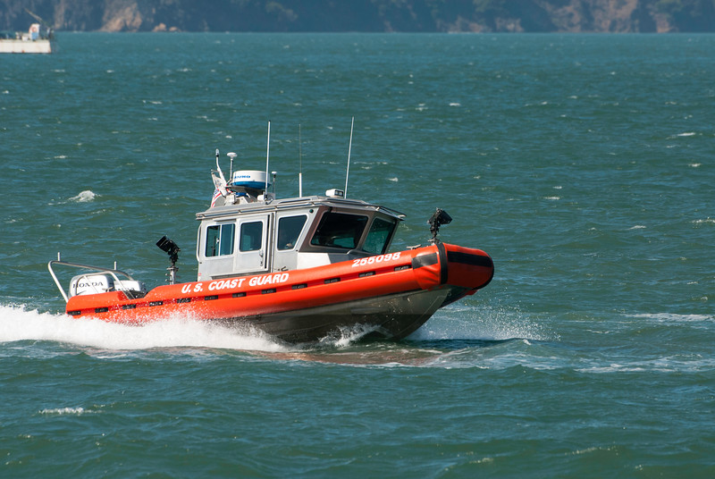 U.S. Coast Guard all decked out in Giants orange and black!