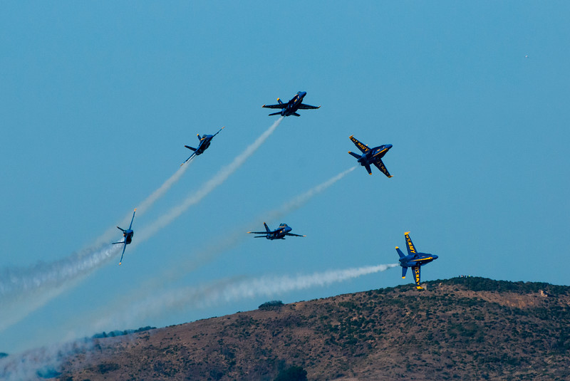 Blue Angels perform precise maneuvers