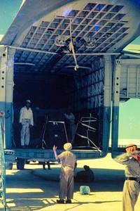 Beverley unloading at Sharjah Airfield               (MET)
