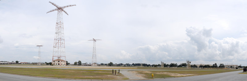 This is a 34.5 megapixel image created from several images taken with a Nikon D200.  This shows most of the Airborne training field at Fort Benning in Columbus, Georgia.