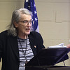 Armed Forces Day at Fort Devens Museum. University of South Carolina history professsor emeritus Marcia G. Synnott speaks about the flu epidemic 0f 1918.(SUN/Julia Malakie)