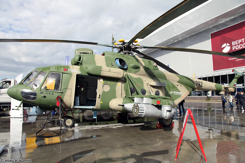 Ми-17В-5 с оптико-электронной системой ГОЭС-321МК (Mi-17V-5 with new optical-electronical system GOES-321MK)