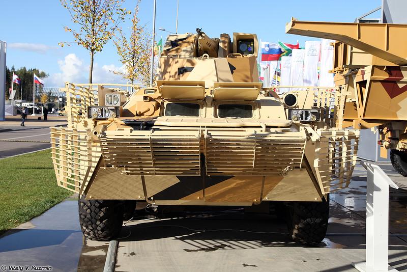 БТР-80 с дополнительной защитой и 12,7-мм дистанционно-управляемым боевым модулем (BTR-80 with 12.7mm remote weapon station)