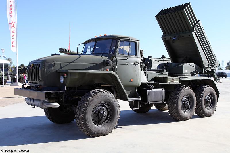 Боевая машина БМ-21-1 РСЗО Град (BM-21-1 Grad MLRS)