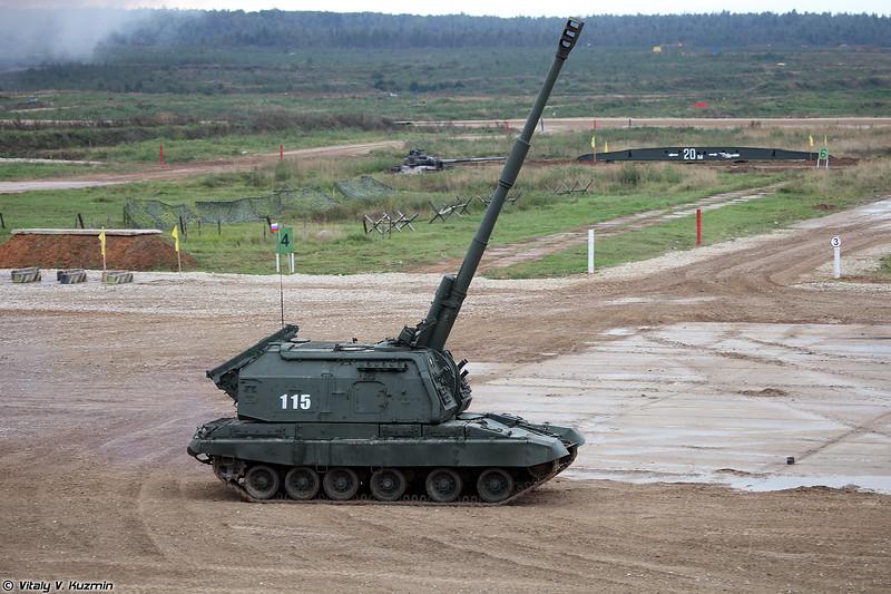 САУ 2С19М1 Мста-С (2S19M1 Msta-S self-propelled howitzer)