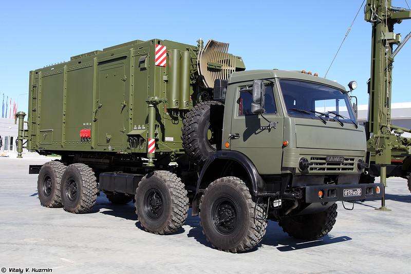 Мобильная трехкоординатная РЛС 48Я6-К1 Подлет-К1с модулями (48Ya6-K1 Podlet-K1 radar with command vehicles)