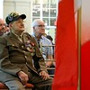 Dracut's Frank Polewarczyk, 91, a WWII veteran just before getting France's highest military metal, the Legion of Honor for his action in France during the war. SUN/JOHN LOVE