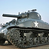 M4A1 POA-CWS-H5 Sherman Flame Tank. Developed by The Chemical Warfare Service to provice close support for attacking infantry. Used in the Pacific Theater in World War II and in the Korean War.