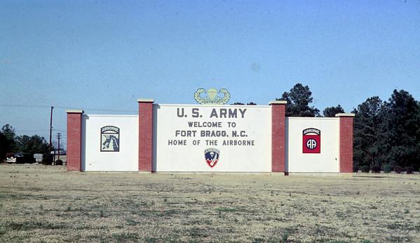 Ft. Bragg, 3rd BN 505 circa 1955-1956