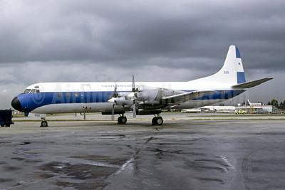 Fuerza Aérea Hondureña (Honduras Air Force) Lockheed 188A Electra 555 (msn 1028) MIA (Bruce Drum). Image: 105361.