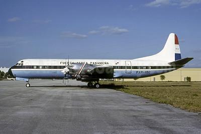 Fuerza Aérea Panamena Lockheed 188C Electra FAP-400 (msn 2022) FXE (Nigel P. Chalcraft - Brucce Drum Collection). Image: 950957.