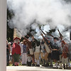 Dedication ceremony for the Middlesex G.W.O.T. Veteran's Monument in Pepperell, honoring service members who sacrificed in the post 9/11 Global War on Terror. 6th Middlesex Regiment fires a salute. (SUN/Julia Malakie)