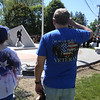 Dedication ceremony for the Middlesex G.W.O.T. Veteran's Monument in Pepperell, honoring service members who sacrificed in the post 9/11 Global War on Terror. Darlene and husband Don Coutu of Pepperell. (SUN/Julia Malakie)