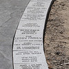 Dedication ceremony for the Middlesex G.W.O.T. Veteran's Monument in Pepperell, honoring service members who sacrificed in the post 9/11 Global War on Terror. Sponsored blocks along the walkway.(SUN/Julia Malakie)