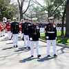Gen. James F. Amos, the 35th Commandant of the Marine Corps, and Sgt. Maj. Micheal P. Barrett, the 17th Sergeant Major of the Marine Corps, lead the funeral procession for retired Gen. Carl E. Mundy, Jr., the 30th Commandant of the Marine Corps, to the Marine Corps War Memorial in Arlington, Va., on April 12, 2014. (U.S. Marine Corps photo by Sgt. Marionne T. Mangrum)