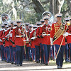 "20081103-M-8689P-002 - ""The President's Own,"" U.S. Marine Band, makes its way to the final resting place of Gen. Robert H. Barrows. Barrows, the 27th CMC, a veteran of three wars, with more than 40 years of service, passed away Oct. 30."