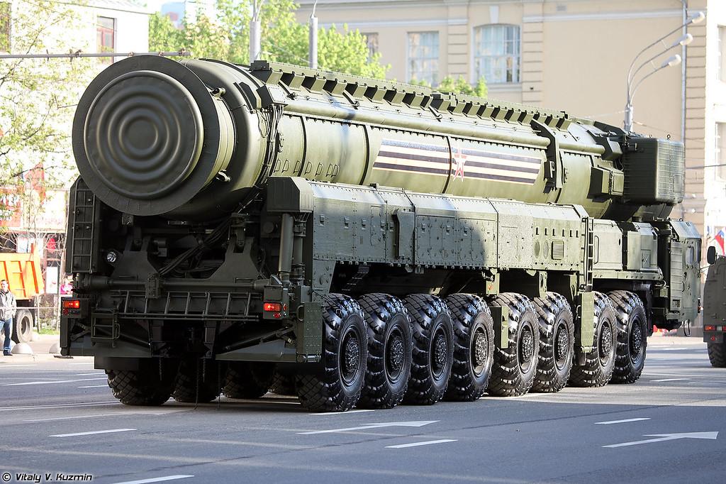 Пусковая установка 15У175М комплекса РС-24 Ярс (15U175M TEL from RS-24 Yars ICBM)