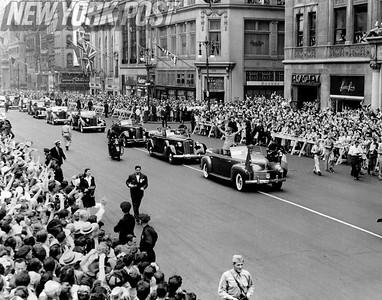 Gen. Eisenhower visit to U.S. 1945
