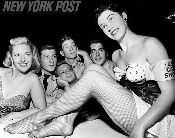U.S. Servicemen With Beautiful Women At Hotel Roosevelt. 1952
