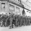 Veterans of World War II parade along Fifth Ave. 1957