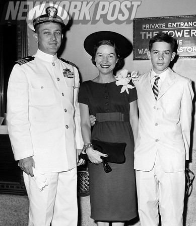 Commander W.R. Anderson, Mrs. Yvonne Anderson and their 13 year old son Michael David. September 03, 1958.