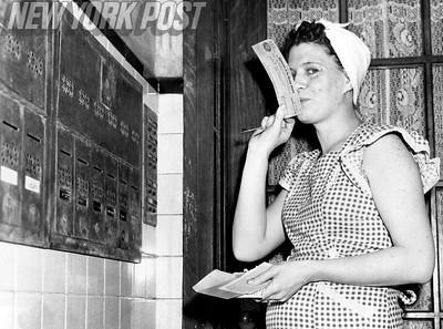 Veterans Bonus check arrives in the mail! 1950
