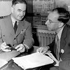 Henry Beckett Has an Discussion With Captain M.M. Witherspoon.  1946