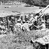 Antiaircraft Gun Points Skyward During a Raid. 1942