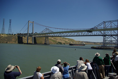 The Carquinez Bridge, approaching from the West.